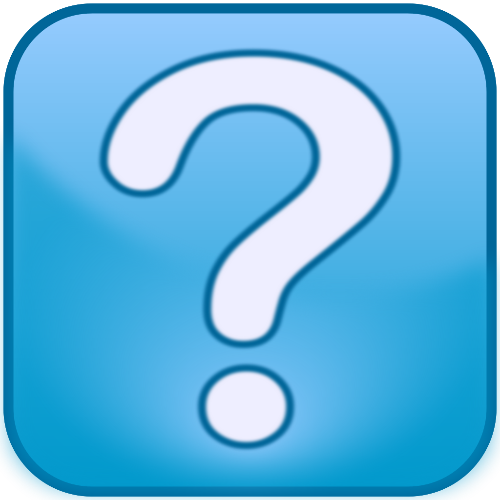 Question Mark Icon Blue Box